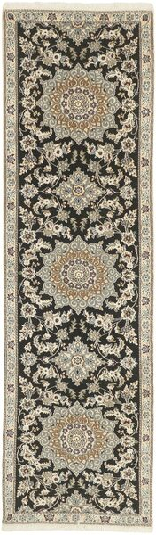 Nain 9La Covor 81X291 Orientale Lucrat Manual Gri Deschis/Gri Închis (Lână/Mătase, Persia/Iran)