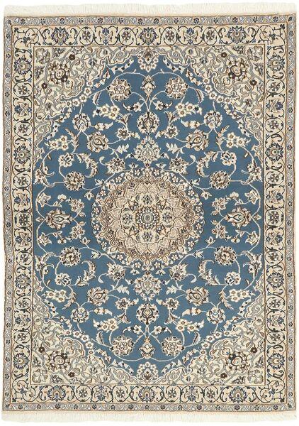 Nain 9La Covor 118X171 Orientale Lucrat Manual Gri Deschis/Bej (Lână/Mătase, Persia/Iran)