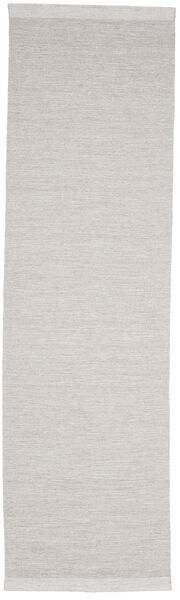 Serafina - Beige_Melange Covor 100X250 Modern Lucrate De Mână Gri Deschis (Lână, India)