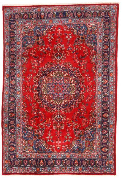 Mashhad Covor 198X295 Orientale Lucrat Manual Roșu-Închis/Ruginiu (Lână, Persia/Iran)