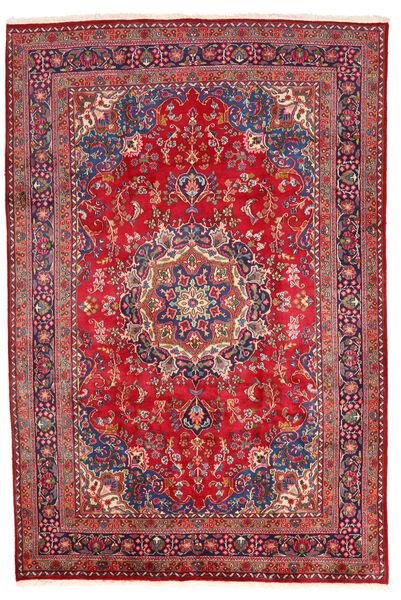 Mashhad Covor 198X294 Orientale Lucrat Manual Roșu-Închis/Roşu (Lână, Persia/Iran)