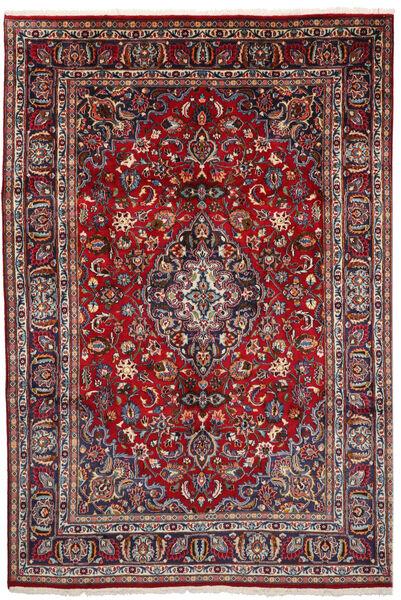 Mashhad Covor 194X286 Orientale Lucrat Manual Roșu-Închis/Gri Deschis (Lână, Persia/Iran)