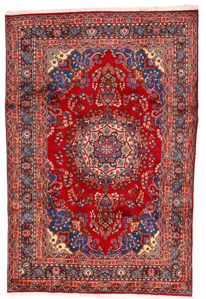 Mashhad Covor 195X297 Orientale Lucrat Manual Ruginiu/Roșu-Închis (Lână, Persia/Iran)