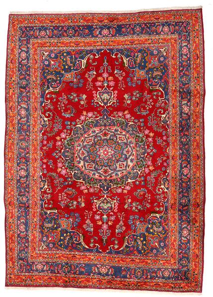 Mashhad Covor 207X290 Orientale Lucrat Manual Ruginiu/Roșu-Închis (Lână, Persia/Iran)