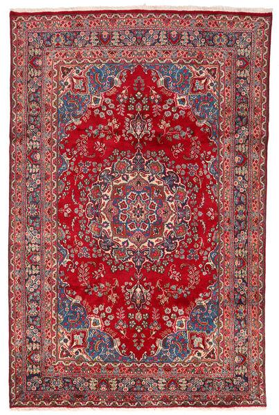 Mashhad Covor 190X305 Orientale Lucrat Manual Roşu/Roșu-Închis (Lână, Persia/Iran)