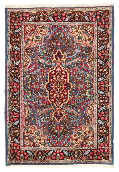 Kerman Covor 119X174 Orientale Lucrat Manual Roșu-Închis/Maro Închis (Lână, Persia/Iran)