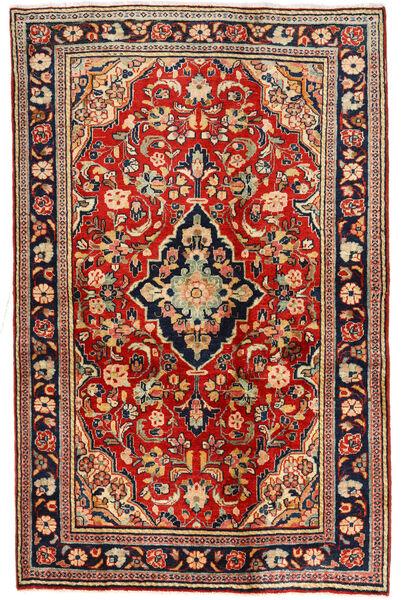 Sarouk Covor 127X198 Orientale Lucrat Manual Bej Închis/Ruginiu (Lână, Persia/Iran)