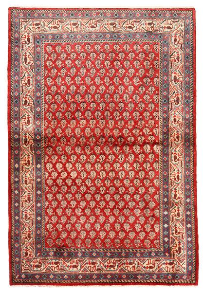 Sarouk Covor 122X216 Orientale Lucrat Manual Ruginiu/Roșu-Închis (Lână, Persia/Iran)