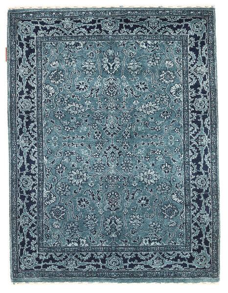 Gabbeh Loribaft Covor 92X122 Modern Lucrat Manual Albastru Închis/Albastru Deschis/Albastru (Lână, India)