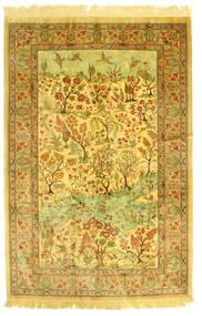 Qom Mătase Figurativ/Pictural Covor 131X198 Orientale Lucrat Manual (Mătase, Persia/Iran)