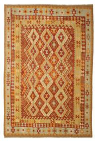 Chilim Afghan Old Style Covor 197X293 Orientale Lucrate De Mână (Lână, Afganistan)