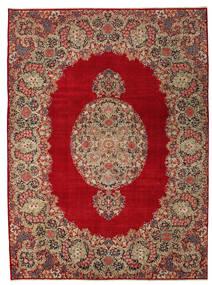 Kerman Patina Covor 277X374 Orientale Lucrat Manual Roșu-Închis/Maro Deschis Mare (Lână, Persia/Iran)