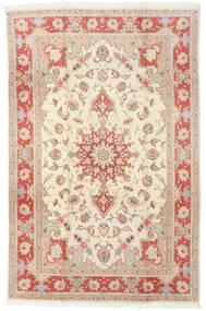 Tabriz 50 Raj Covor 190X293 Orientale Lucrat Manual Bej/Maro Deschis (Lână/Mătase, Persia/Iran)