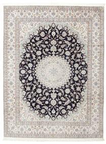 Nain 6La Semnat: Habibian Covor 205X271 Orientale Lucrat Manual (Lână/Mătase, Persia/Iran)