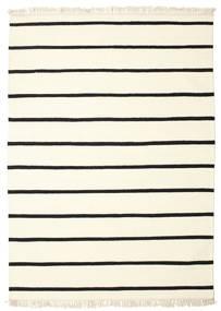 Dorri Stripe - White/Negru Covor 160X230 Modern Lucrate De Mână Bej/Bej-Crem (Lână, India)
