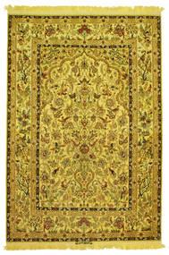 Isfahan Mătase Urzeală Figurativ/Pictural Semnat: Nasr Covor 142X210 Orientale Lucrat Manual (Lână/Mătase, Persia/Iran)