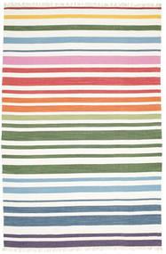 Rainbow Stripe - White Covor 200X300 Modern Lucrate De Mână Bej-Crem (Bumbac, India)