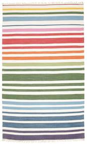 Rainbow Stripe - White Covor 180X280 Modern Lucrate De Mână Bej/Bej-Crem (Bumbac, India)