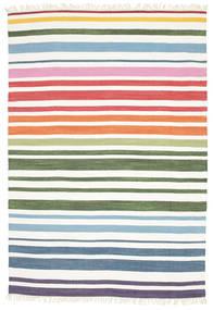 Rainbow Stripe - White Covor 160X230 Modern Lucrate De Mână Bej-Crem (Bumbac, India)