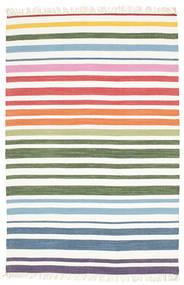 Rainbow Stripe - White Covor 140X200 Modern Lucrate De Mână Bej-Crem/Bej (Bumbac, India)