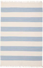 Cotton Stripe - Deschis Albastru Covor 140X200 Modern Lucrate De Mână Bej/Albastru Deschis (Bumbac, India)