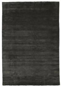 Handloom Fringes - Negru/Gri Covor 220X320 Modern Negru/Gri Închis (Lână, India)