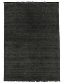 Handloom Fringes - Negru/Gri Covor 140X200 Modern Negru (Lână, India)
