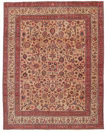 Mashhad Patina Semnat: Amoghli Covor 287X370 Orientale Lucrat Manual Ruginiu/Roșu-Închis Mare (Lână, Persia/Iran)