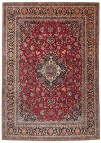 Kashan Covor 275X385 Orientale Lucrat Manual Roșu-Închis/Maro Închis Mare (Lână, Persia/Iran)