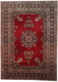 Kashan Covor 318X437 Orientale Lucrat Manual Roșu-Închis/Maro Închis Mare (Lână, Persia/Iran)