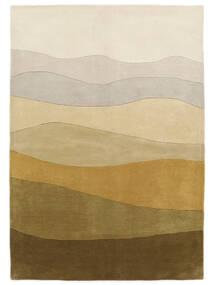 Feeling Handtufted - Maro Covor 160X230 Modern Verde Oliv/Bej Închis (Lână, India)
