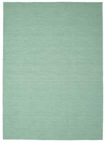 Chilim Loom - Mint Verde Covor 250X350 Modern Lucrate De Mână Verde Pastel/Albastru Turcoaz Mare (Lână, India)