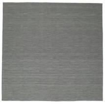 Chilim Loom - Gri Închis Covor 300X300 Modern Lucrate De Mână Pătrat Verde Închis/Gri Deschis Mare (Lână, India)