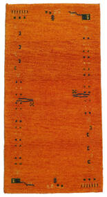 Gabbeh Indo Covor 71X140 Modern Lucrat Manual Portocaliu/Maro Deschis (Lână, India)
