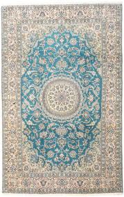 Nain 9La Covor 197X310 Orientale Lucrat Manual Gri Deschis/Bej (Lână/Mătase, Persia/Iran)
