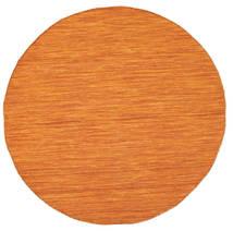 Chilim Loom - Portocaliu Covor Ø 150 Modern Lucrate De Mână Rotund Portocaliu (Lână, India)