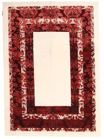 Himalaya Covor 150X210 Modern Lucrat Manual Bej/Roșu-Închis ( India)