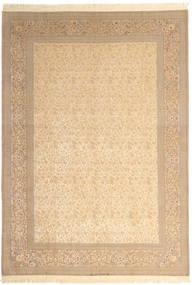 Isfahan Urzeală De Mătase Semnat: Dardashti Covor 250X350 Orientale Lucrat Manual Bej/Maro Deschis Mare (Lână/Mătase, Persia/Iran)