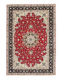Tabriz 50 Raj Urzeală De Mătase Covor 200X310 Orientale Lucrat Manual Gri Deschis/Gri Închis (Lână/Mătase, Persia/Iran)