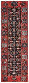 Saveh Patina Covor 100X303 Orientale Lucrat Manual Maro Închis/Roșu-Închis (Lână, Persia/Iran)