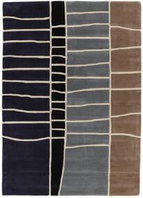 Abstract Bamboo Handtufted Covor 160X230 Modern Mov Închis/Gri Deschis (Lână, India)