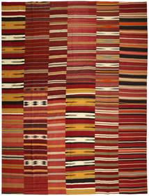 Chilim Patchwork Covor 355X444 Modern Lucrate De Mână Roșu-Închis/Roşu Mare (Lână, Turcia)