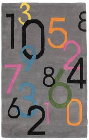 Lucky Numbers - Gri Covor 100X160 Modern Maro Închis/Gri Închis (Lână, India)