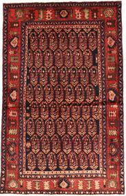 Nahavand Covor 130X206 Orientale Lucrat Manual Roșu-Închis/Ruginiu (Lână, Persia/Iran)