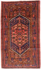 Hamadan Covor 143X247 Orientale Lucrat Manual Roșu-Închis/Roşu (Lână, Persia/Iran)