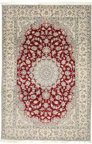 Nain 9La Covor 202X310 Orientale Lucrat Manual Gri Deschis/Bej (Lână/Mătase, Persia/Iran)