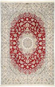Nain 9La Semnat: Ghambari Covor 196X300 Orientale Lucrat Manual Gri Deschis/Bej (Lână/Mătase, Persia/Iran)