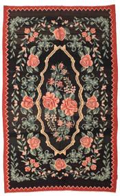 Chilim Rose Moldavia Covor 166X268 Orientale Lucrate De Mână Negru/Gri Închis (Lână, Republica Moldova)