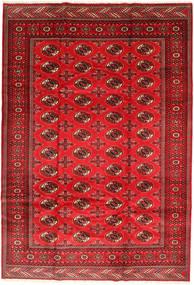 Turkaman Covor 201X293 Orientale Lucrat Manual Ruginiu/Roșu-Închis/Roşu (Lână, Persia/Iran)