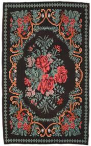 Chilim Rose Moldavia Covor 171X278 Orientale Lucrate De Mână Negru/Gri Închis (Lână, Republica Moldova)